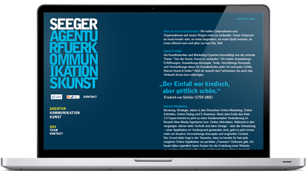 Seeger  Agentur fr Kommunikationskunst
