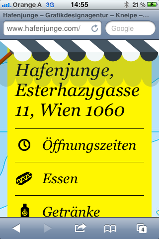 hafenjunge iPhone-Webapp Startseite